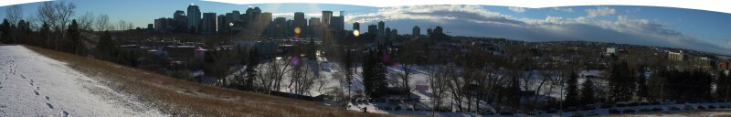 Downtown Calgary from SAIT